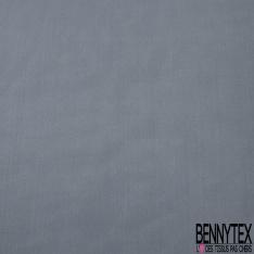 Pongé de Soie Uni bleu gris souris