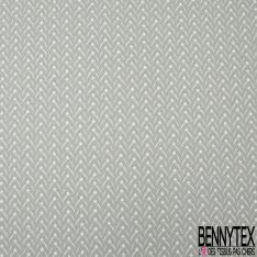 Coton imprimé motif motif fantaisie Fond tilleul clair
