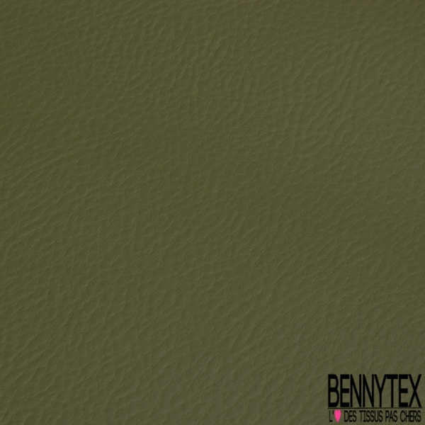 Simili Cuir matte Couleur vert ortie