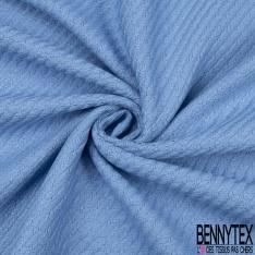 Coton Natté Imprimé ZigZag bleu pastelle