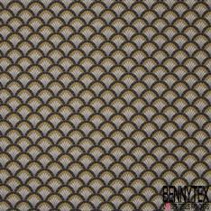 Coton Cretonne Modèle DOUCET Ton Taupe