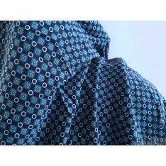 Javanaise Polyester Imprimé Carré Rond