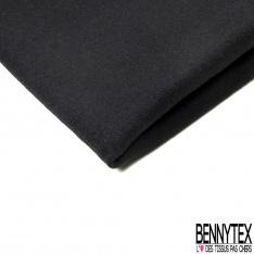 Velours de Laine Bouillie lisse noir panthère