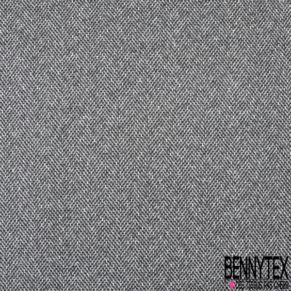 Laine Polyester Tresse Couleur gris écru et noir