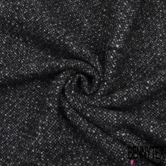Laine Mohair Bouclette Couleur noir gris chiné et gris