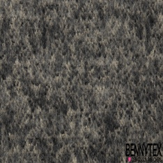 Laine Mohair Chiné Poil Long Couleur beige gris