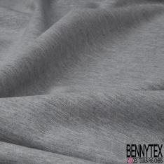 Jersey Viscose Double Face noir et gris chiné