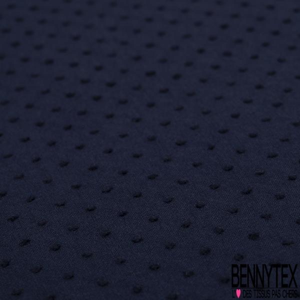 Plumetis De Coton Couleur bleu marine