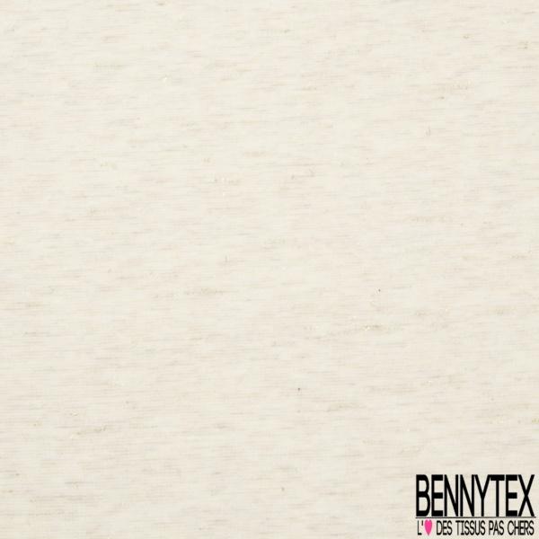 Jersey Coton Elastahanne Imprimé pailletté Fond sable