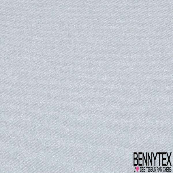 Satin de Coton Elasthanne Imprimé pailleté bleu ciel