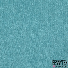 Satin de Coton Elasthanne Imprimé pailleté bleu des mers du sud