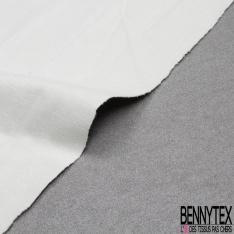 Satin de Coton Elasthanne Imprimé pailleté gris taupe