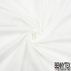 Voile de Coton Uni blanc cassé