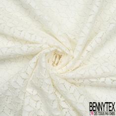 Dentelle Polyamide Florale blanc cassé