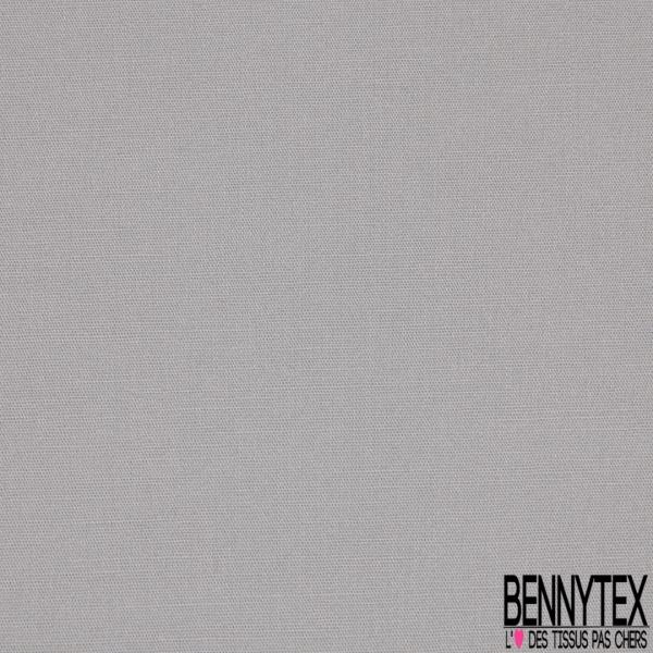 Popeline Coton Uni gris perle