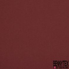 Popeline Coton Uni lie de vin