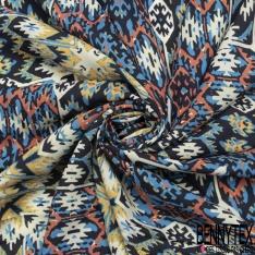 Fibrane Viscose Imprimé pixelisé multicolore