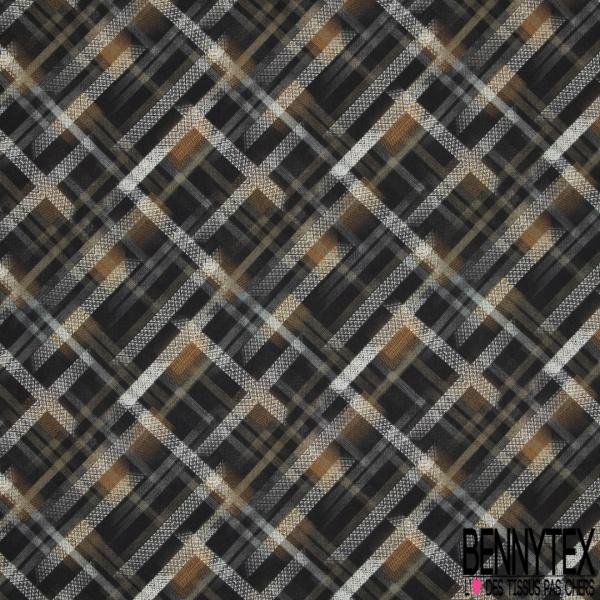 Fibrane Viscose Imprimé losanges Fond noir