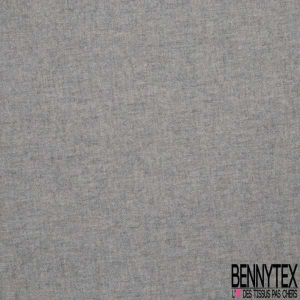 Tricotine de Laine Double Face gris chiné et beige chiné