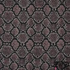 Maille Jacquard Motif losange rose et Lurex Fond noir