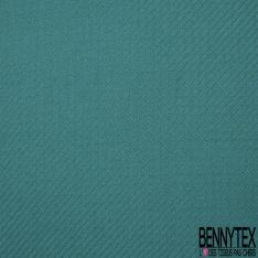 Coton Natté Imprimé ZigZag bleu émeraude et canard