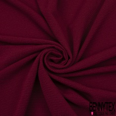 Maille 3D Gaufrée à Motif Rayé Ton sur Ton bordeaux