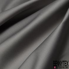 Satin de Coton Elasthanne gris fer