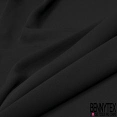 Crêpe Polyester Georgette Uni Noir