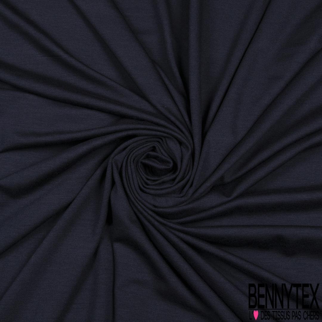tissu jersey viscose elasthanne bleu nuit  ou bleu tres foncé vente au metre