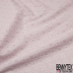 Broderie Anglaise Lilas clair