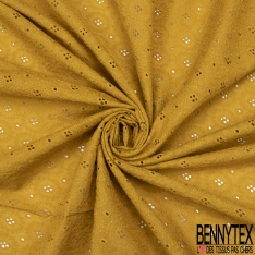 Broderie Anglaise Moutarde