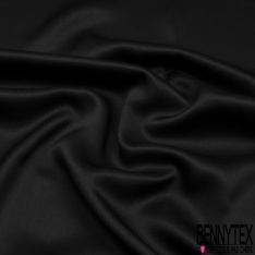 Drap de Soie Uni Noir