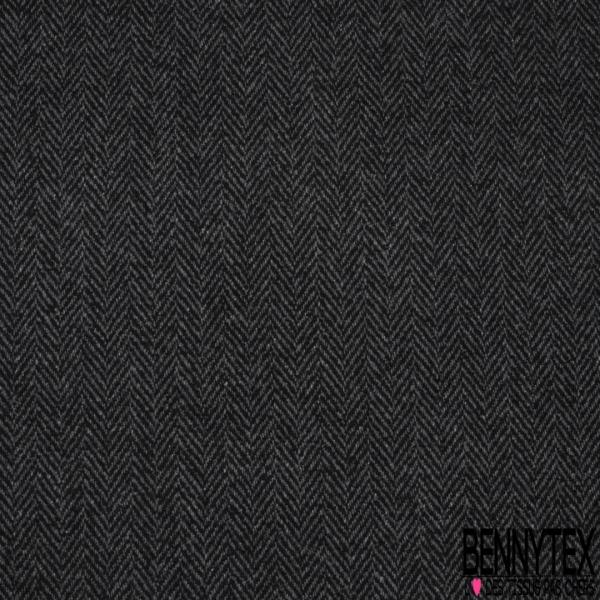 Laine Chevron Plastifié Noir Perle
