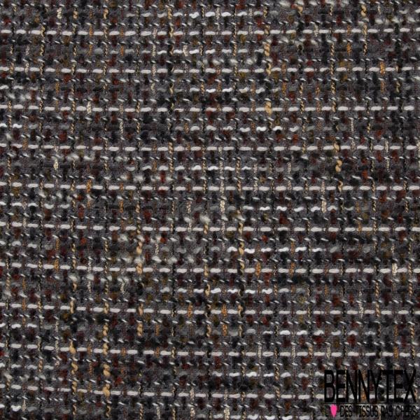 Laine Tressée multicolore Fond gris souris