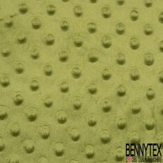 Minky Pois effet Gaufré Uni vert pistache