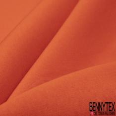 Molleton Gratté Uni Orange Vif