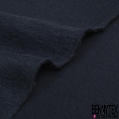 Molleton Gratté Double Face Uni Bleu Ciment Foncé