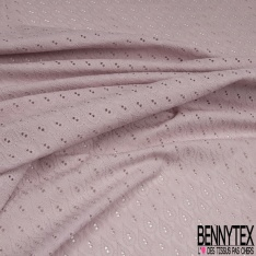 Broderie Anglaise effet goutte lilas