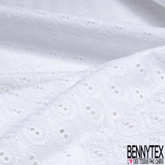 Broderie Anglaise effet goutte blanc