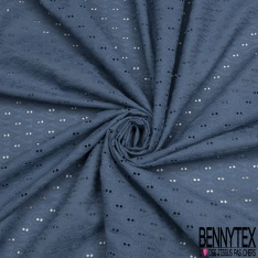 Broderie Anglaise Moutarde motif goutte