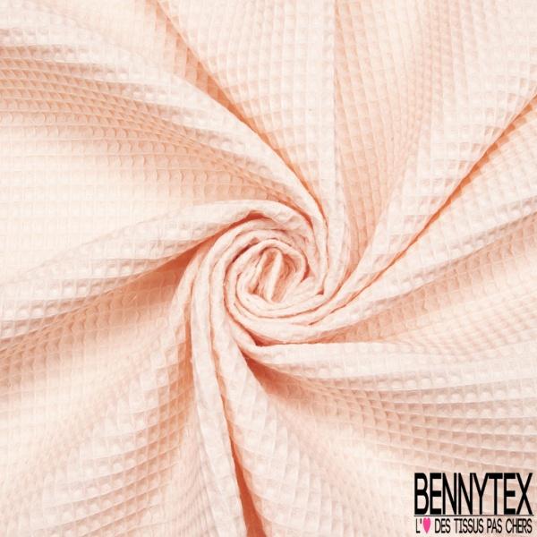 Coton Nid d'Abeille Rose