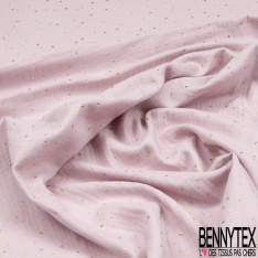 Coton Double Gaze Lilas Pastille Relief Or