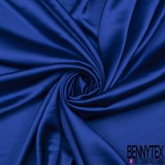 Satin Toucher Soie Bleu Roi