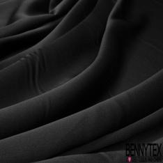 Drap de Satin Toucher Soie Noir Profond