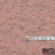 Molleton Gratté rose pâle chiné