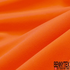 Molleton Gratté Polyester Orange fluo
