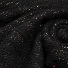 Tricot de Laine Cardigan rayé brique et écru