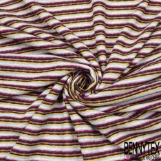 Coupon 3m Maille Jacquard Motif rayure multicolore