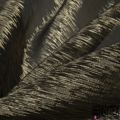Mousseline de soie Imprimé bande satin de soie 16 mommes ivoire