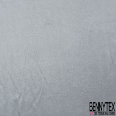 Organza de Soie Souple lamé gris Lurex
